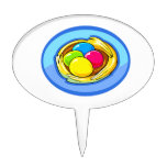 four colored eggs next blue oval.png cake topper