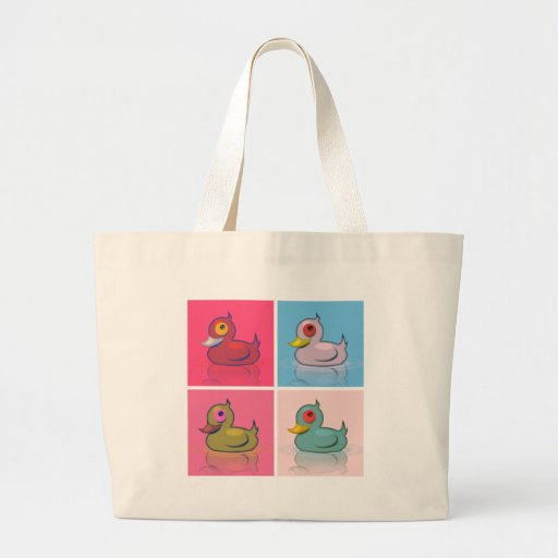 Four Colorful Ducks Jumbo Tote Bag