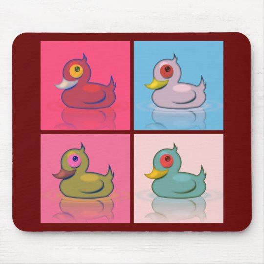 Four Colorful Ducks Mouse Pad