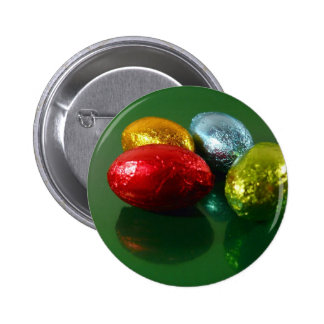 Four Colorful Easter Candy Eggs Button