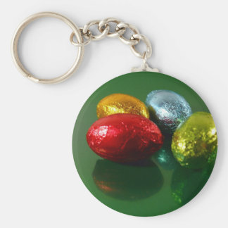 Four Colorful Easter Candy Eggs Keychain