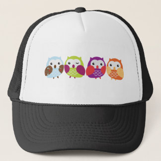 Four Colorful Owls Trucker Hat