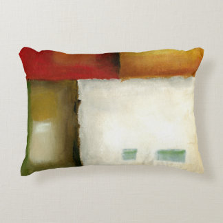 Four Colorful Rectangles by Chariklia Zarris Accent Pillow