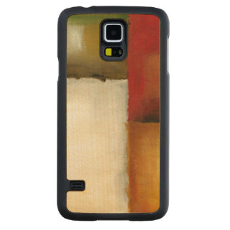 Four Colorful Rectangles by Chariklia Zarris Carved Maple Galaxy S5 Case
