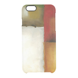 Four Colorful Rectangles by Chariklia Zarris Clear iPhone 6/6S Case