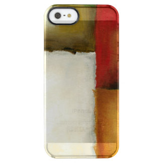 Four Colorful Rectangles by Chariklia Zarris Clear iPhone SE/5/5s Case