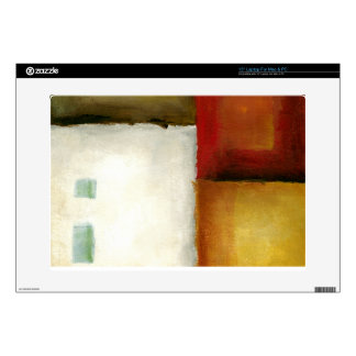Four Colorful Rectangles by Chariklia Zarris Laptop Skins