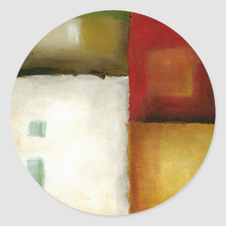 Four Colorful Rectangles by Chariklia Zarris Classic Round Sticker