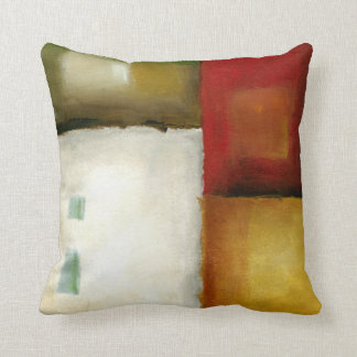 Four Colorful Rectangles by Chariklia Zarris Throw Pillow