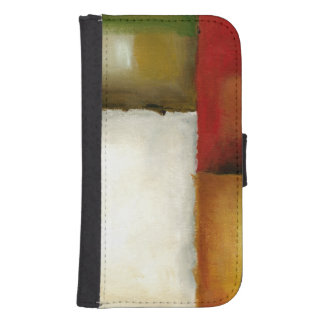 Four Colorful Rectangles by Chariklia Zarris Wallet Phone Case For Samsung Galaxy S4