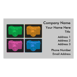 Four Colorful Retro Cameras Double-Sided Standard Business Cards (Pack Of 100)