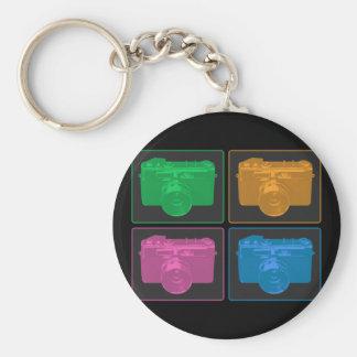 Four Colorful Retro Cameras Keychain