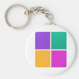 FOUR COLORFUL SQUARES: Elegant GIFTS lowprice Key Chains