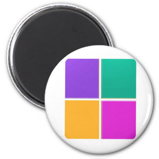 FOUR COLORFUL SQUARES: Elegant GIFTS lowprice Magnets