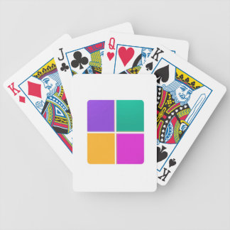 FOUR COLORFUL SQUARES: Elegant GIFTS lowprice Bicycle Card Deck