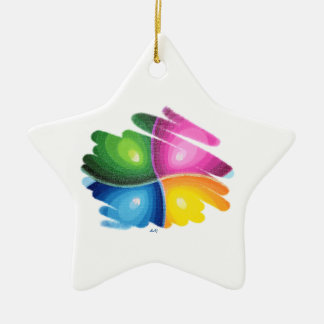 Four Colors Energy Spin Star Ornament