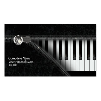 Four Colors Piano Keyboard Business Card