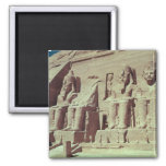 Four colossal figures of the king 2 inch square magnet