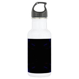 Four Corners Blue Black Fashion Drama 18oz Water Bottle