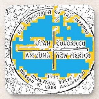 Four Corners Four States Beverage Coaster
