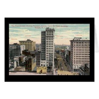 Four Corners, Newark, NJ c1915 Vintage card