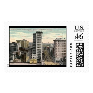 Four Corners, Newark, NJ c1915 Vintage stamp
