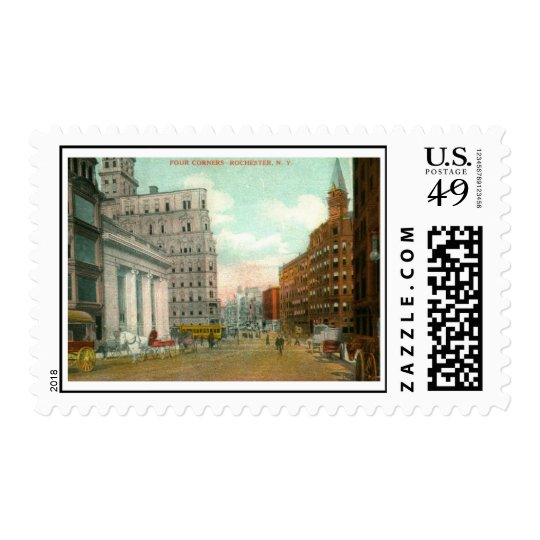 Four Corners, Rochester, New York Vintage Postage