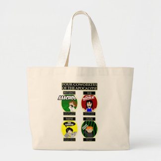 Four Coworkers Of The Apocalypse Tote Bag