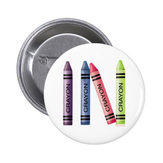 Four Crayons 2 Inch Round Button