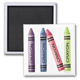 Four Crayons Refrigerator Magnet