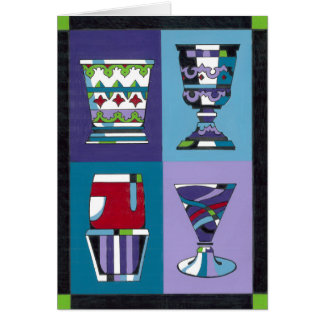 Four Cups Greeting Card