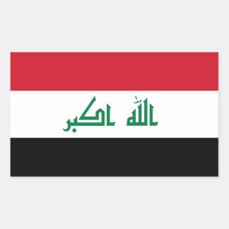 FOUR Current Flag of Iraq Rectangular Sticker