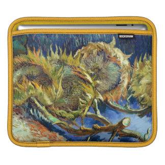 Four Cut Sunflowers by Van Gogh iPad Sleeve