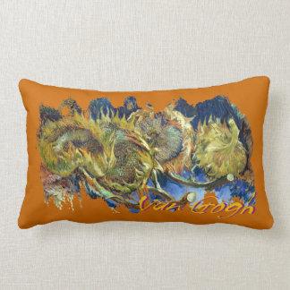 Four Cut Sunflowers by Van Gogh Lumbar Pillow