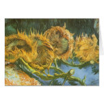 Four Cut Sunflowers by Vincent van Gogh Greeting Card
