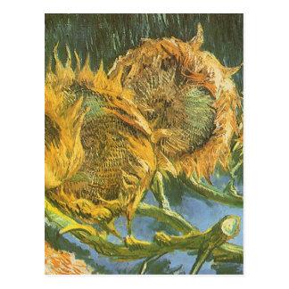 Four Cut Sunflowers by Vincent van Gogh, Fine Art Postcard
