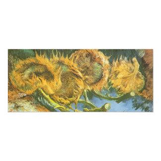 Four Cut Sunflowers by Vincent van Gogh Custom Invite