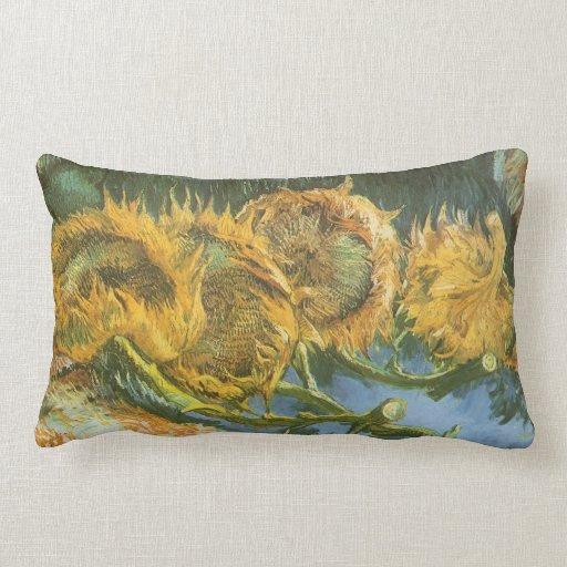 Four Cut Sunflowers by Vincent van Gogh Pillows