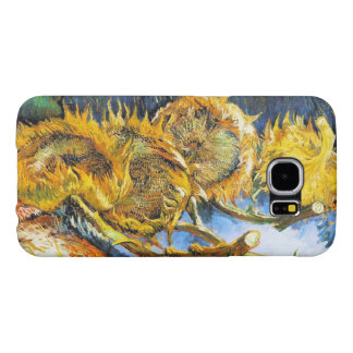 Four Cut Sunflowers by Vincent van Gogh Samsung Galaxy S6 Cases