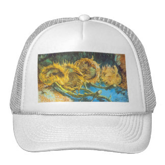 Four Cut Sunflowers by Vincent van Gogh Trucker Hat