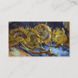 Four Cut Sunflowers Painting Vincent van Gogh Business Card
