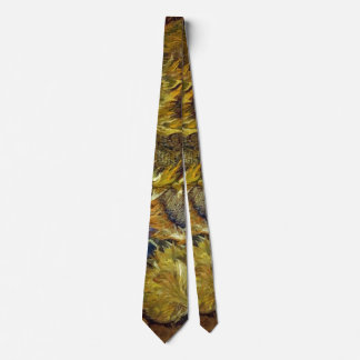 Four Cut Sunflowers Painting Vincent van Gogh Neck Tie