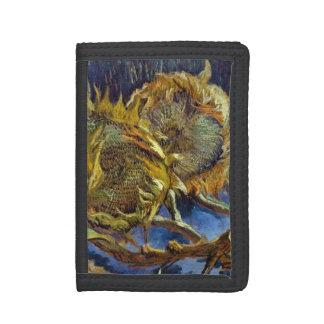 Four Cut Sunflowers Painting Vincent van Gogh Trifold Wallet
