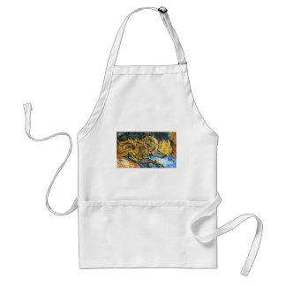 Four Cut Sunflowers - Vincent Van Gogh Adult Apron