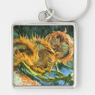 Four Cut Sunflowers, Vincent Van Gogh Keychain
