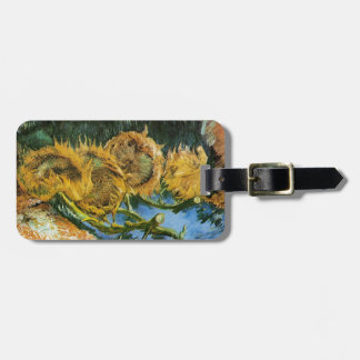 Four Cut Sunflowers, Vincent van Gogh Luggage Tag