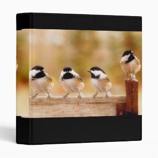 "Four Cute Chickadees 1"" Photo Album 3 Ring Binder"