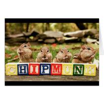 four cute chipmunks