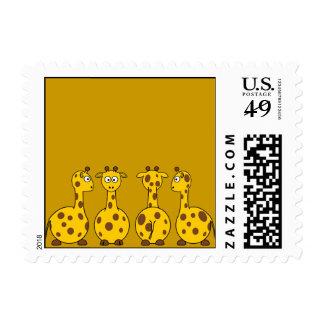 Four Cute Giraffes Stamps
