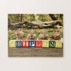 Four Cute Little Cheeky Chipmunks Jigsaw Puzzle